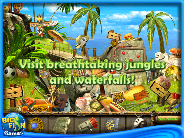 The treasures of mystery island ipad iphone android for Jackpot city big fish