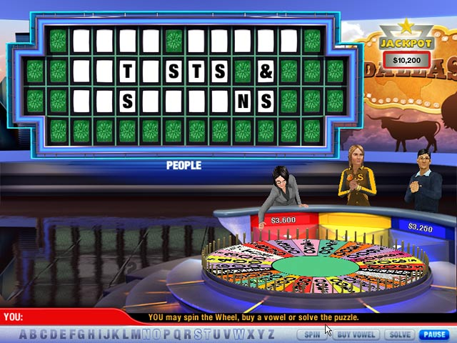 wheel of fortune the game online 2 players