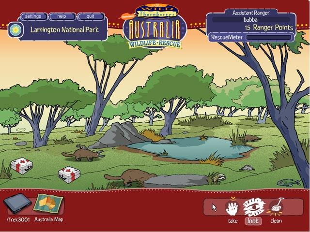 Game screenshot 1 Wild Thornberrys Australian Wildlife Rescue