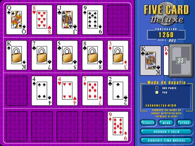 Juegos Capturas 1 Five Card Deluxe