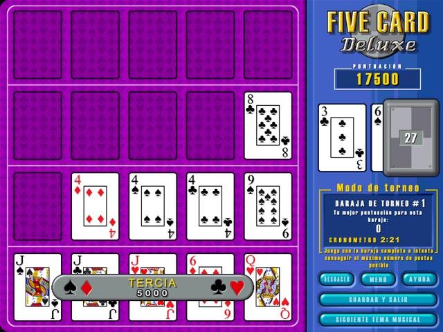 Juegos Capturas 3 Five Card Deluxe