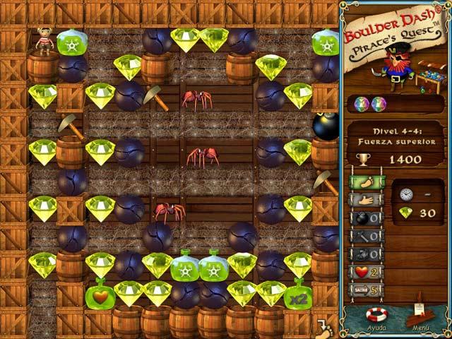 Juegos Capturas 3 Boulder Dash: Pirate's Quest