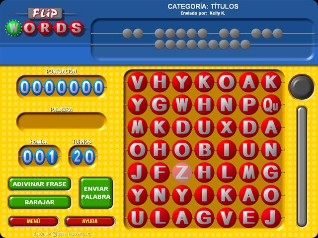 Juegos Capturas 1 Flip Words