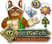 Característica De Pantalla Del Juego Magic Match - The Genie`s Journey