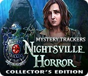 Característica De Pantalla Del Juego Mystery Trackers: Nightsville Horror Collector's Edition