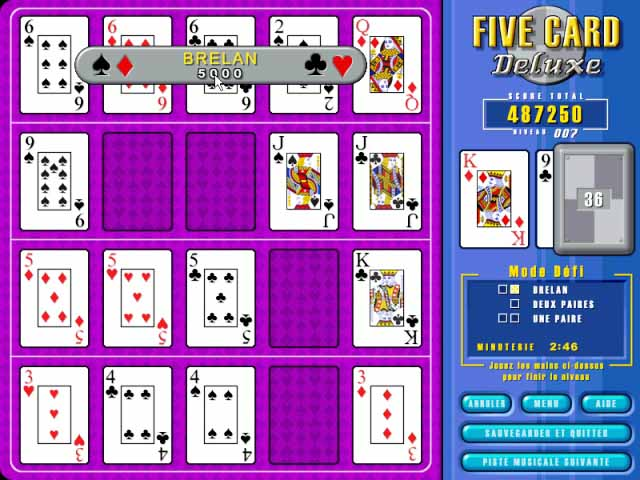 Capture D'écran Du Jeu 2 Five Card Deluxe