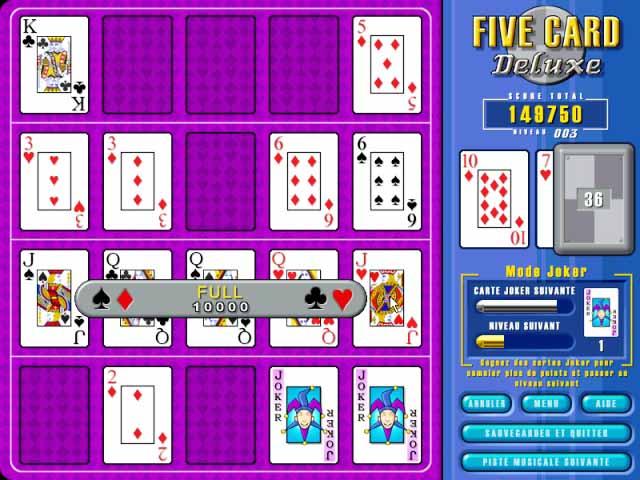 Capture D'écran Du Jeu 3 Five Card Deluxe
