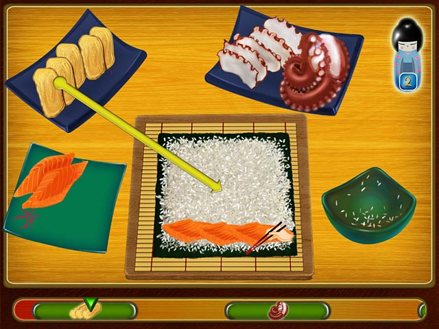 Asami 39 s sushi shop jeu ipad iphone android et pc big for Big fish cooking games