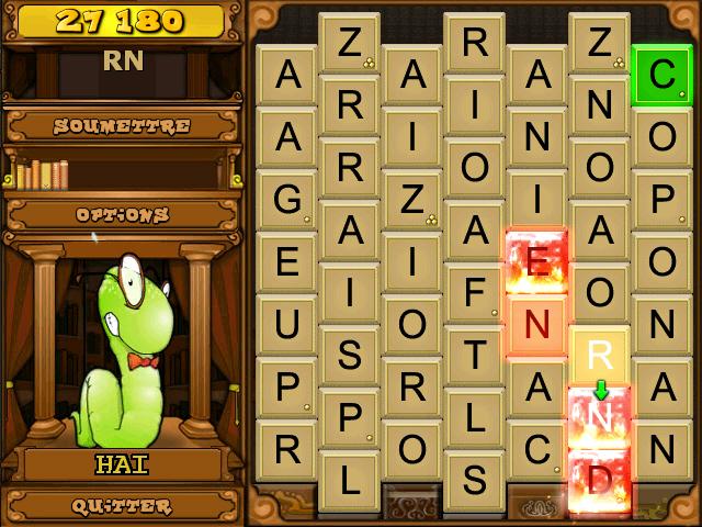 Bookworm deluxe jeu ipad iphone android et pc big fish - Jeux de mots coupes gratuits en ligne ...
