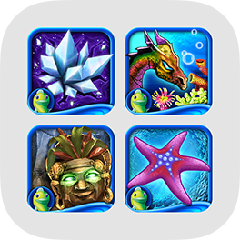 Collection d'apps de Match 3 pour iPad de Big Fish