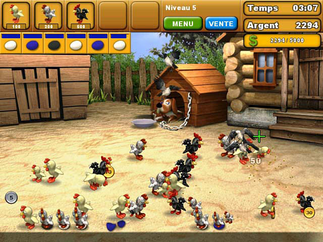 Capture D'écran Du Jeu 3 Chicken Chase
