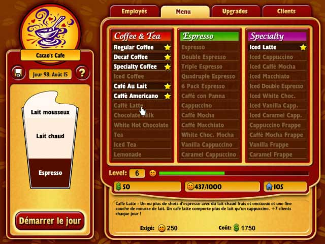 Capture D'écran Du Jeu 2 Coffee Tycoon