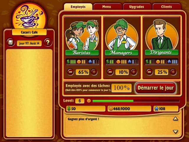 Capture D'écran Du Jeu 3 Coffee Tycoon