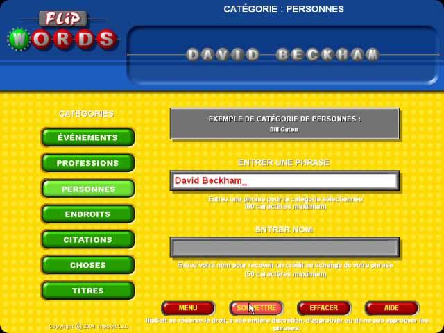 Capture D'écran Du Jeu 3 Flip Words