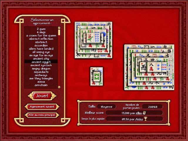 Capture D'écran Du Jeu 3 Mahjong World
