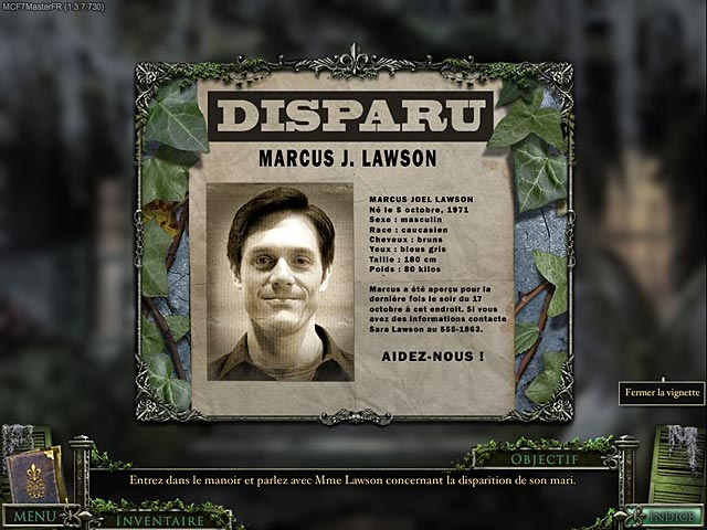 Capture D'écran Du Jeu 1 Mystery Case Files ®: 13th Skull