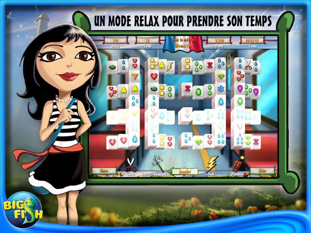 Capture d'écran de Paris Mahjong