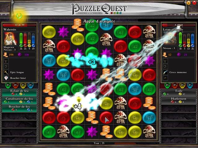 Capture D'écran Du Jeu 3 Puzzle Quest