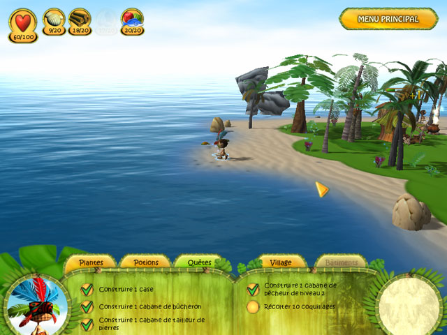 Capture D'écran Du Jeu 1 Shaman Odyssey: L'Aventure Tropicale