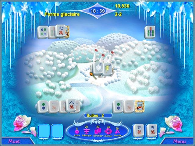 Capture D'écran Du Jeu 3 Snow Queen Mahjong