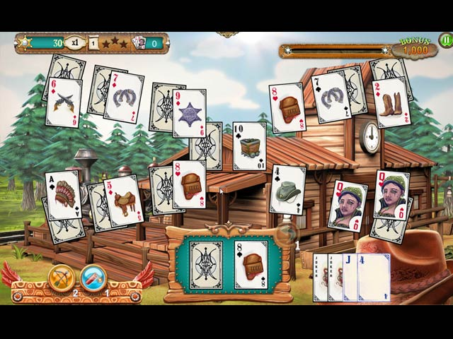 Solitaire Chronicles: Wild Guns img
