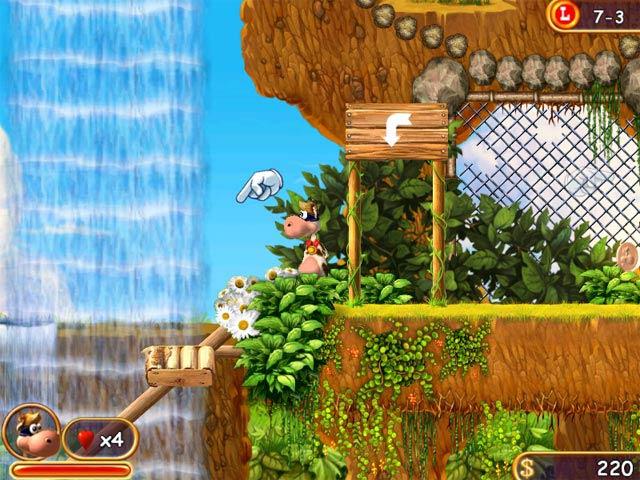 Capture D'écran Du Jeu 1 Supercow