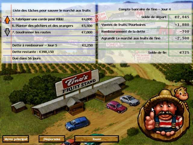 Capture D'écran Du Jeu 2 Tino's Fruit Stand