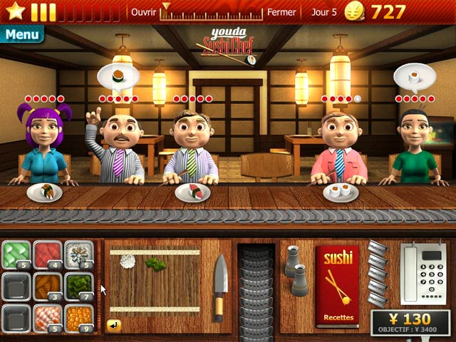 youda sushi chef jeu ipad iphone android et pc big fish. Black Bedroom Furniture Sets. Home Design Ideas