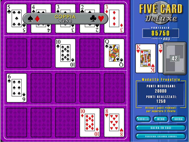 Screenshot Del Gioco 1 Five Card Deluxe