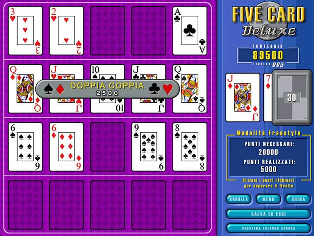 Screenshot Del Gioco 2 Five Card Deluxe