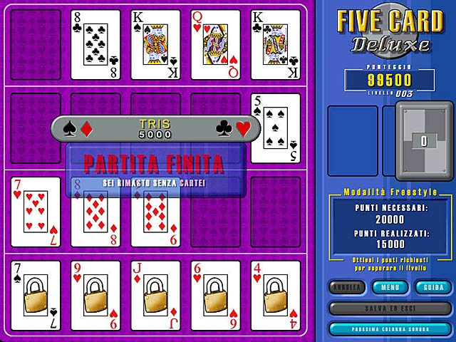 Screenshot Del Gioco 3 Five Card Deluxe