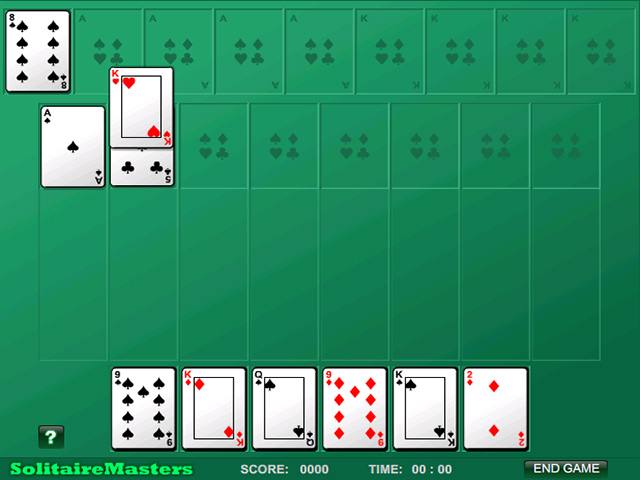 Screenshot Del Gioco 1 Algerian Patience Solitaire