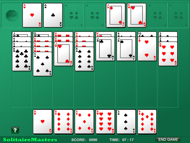 Screenshot Del Gioco 2 Algerian Patience Solitaire
