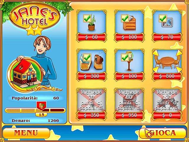 Screenshot Del Gioco 3 Jane's Hotel