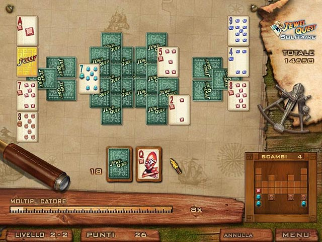 Screenshot Del Gioco 1 Jewel Quest Solitaire