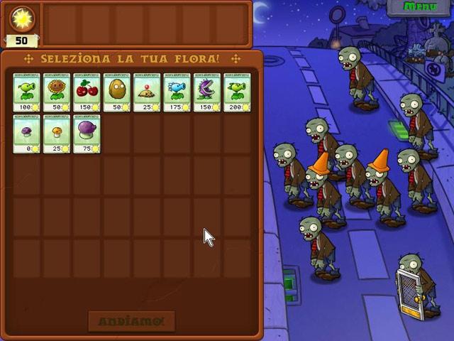 Screenshot Del Gioco 3 Piante contro Zombi