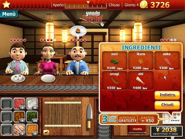 Screenshot Del Gioco 2 Youda Sushi Chef
