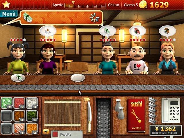 Screenshot Del Gioco 3 Youda Sushi Chef