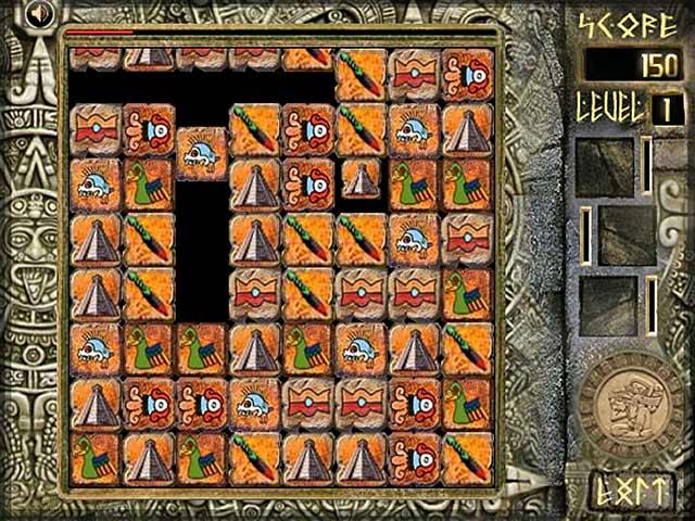 ゲームのスクリーンショット 1 Aztec Blocks