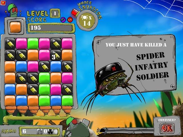 ゲームのスクリーンショット 1 フライ少佐 VS 空からのクモ
