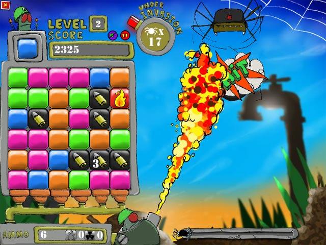 ゲームのスクリーンショット 2 フライ少佐 VS 空からのクモ