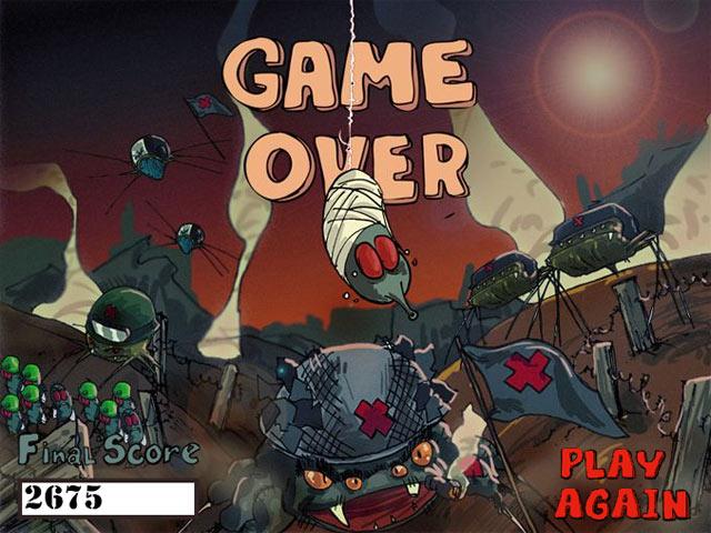 ゲームのスクリーンショット 3 フライ少佐 VS 空からのクモ