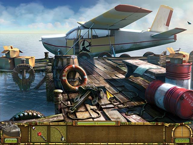 ゲームのスクリーンショット 2 ミステリー島の秘宝:幽霊船に潜む謎
