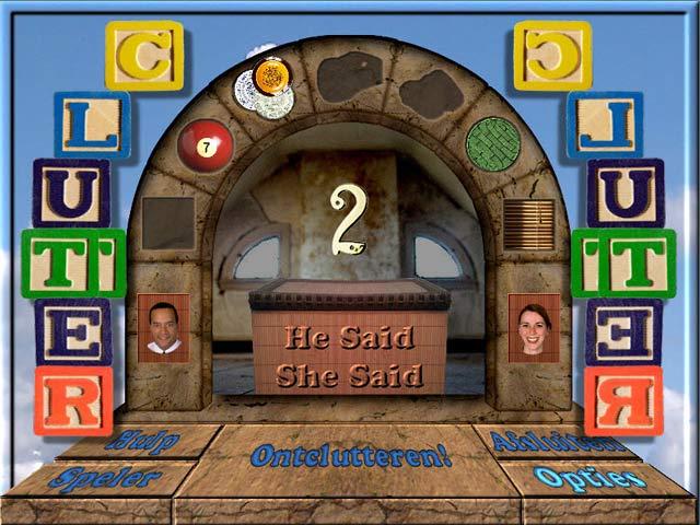 Spel Screenshot 2 Clutter II: He Said, She Said