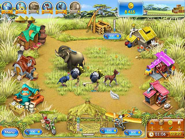Spel Screenshot 2 Farm Frenzy 3: Madagascar