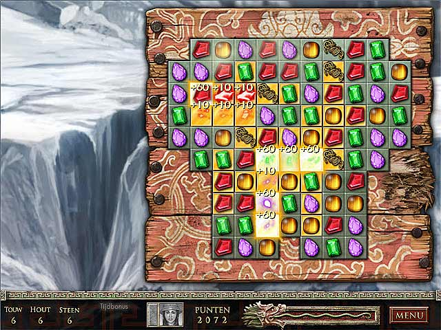 Spel Screenshot 1 Jewel Quest: De Saffieren Draak