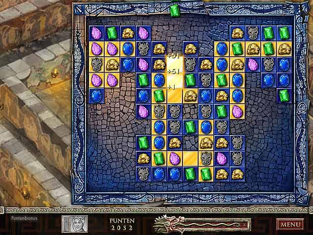 Spel Screenshot 2 Jewel Quest: De Saffieren Draak