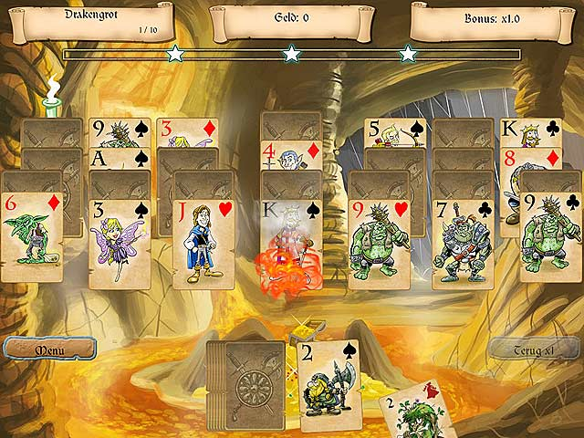 Spel Screenshot 2 Legends of Solitaire: De Verloren Kaarten