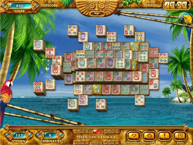 Spel Screenshot 1 Mahjongg: Ancient Mayas