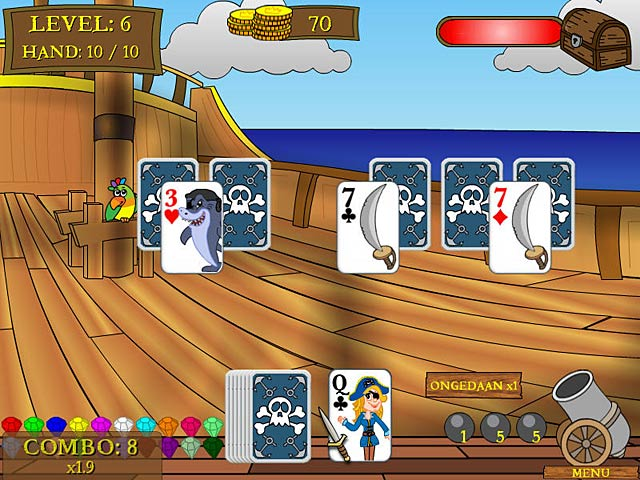 Spel Screenshot 1 Pirate Solitaire